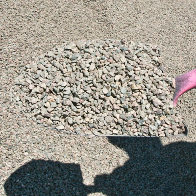 Water and Earthred granite chip